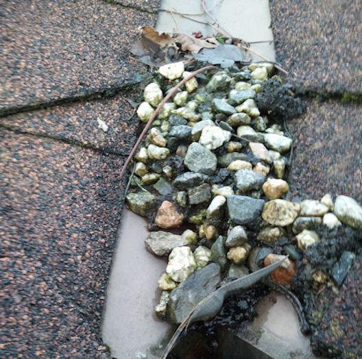 Rocks in Roof Channel